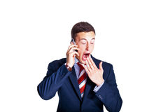 Tired manager yawning Stock Photography