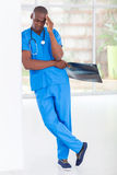 Tired medical worker Stock Image