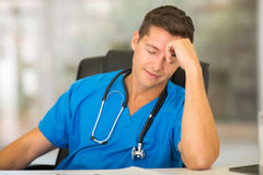 Tired medical worker Royalty Free Stock Photos