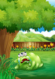 A tired monster under the tree Royalty Free Stock Photography