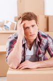 Tired of moving. Royalty Free Stock Photos
