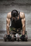 Tired muscle athlete Stock Photos
