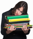 Tired Office Worker Stock Images