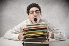 Tired Office Worker Stock Photos