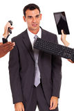 Tired office worker Royalty Free Stock Photos