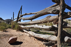 Tired Old Fence. An old ranch style fence in utah royalty free stock image