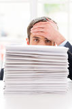 Tired and overworked. Royalty Free Stock Photos