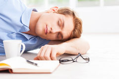 Tired and overworked. Stock Image