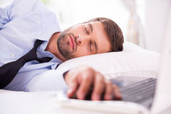 Tired and overworked. Royalty Free Stock Photo