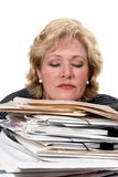 Tired of paperwork Royalty Free Stock Images