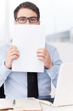 Tired of paperwork. Stock Photography