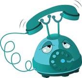 Tired phone. Cartoon Stock Photo