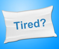 Tired Pillow Represents Bed Insomnia And Bedding Royalty Free Stock Photography