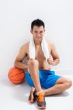 Tired player Royalty Free Stock Photography