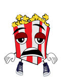 Tired Pop corn cartoon Stock Image