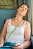 Tired pretty girl asleep Royalty Free Stock Image