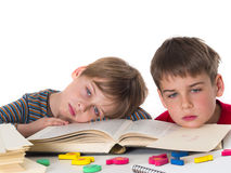 Tired pupils Royalty Free Stock Photos