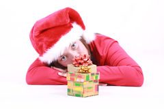 Tired Santa Stock Photo