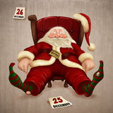 Tired Santa Claus. The day after Christmas Royalty Free Stock Image