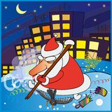 Tired Santa Claus Royalty Free Stock Image