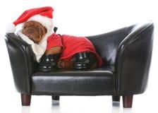 Tired santa Stock Photo