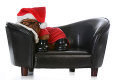 Tired santa Royalty Free Stock Images