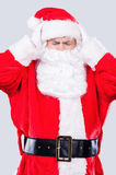Tired Santa. Royalty Free Stock Images