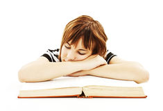Tired of school. royalty free stock photo