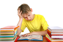Tired Schoolboy Stock Image