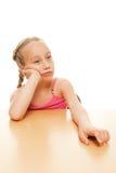 Tired Schoolgirl Royalty Free Stock Photos