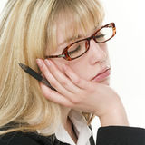Tired Secretary Stock Image