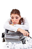 Tired secretary Royalty Free Stock Photography