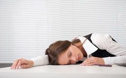 Tired secretary Stock Photography