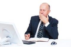 Tired senior businessman Royalty Free Stock Photos