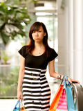 Tired Shopper. A Super Tired Shopper at the Shopping Mall stock images