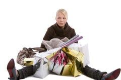 Tired shopper Stock Images