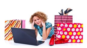 Tired of shopping Royalty Free Stock Image
