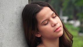 Tired Sleeping Teen Girl Resting stock footage