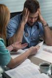 Tired sleepy surgeon with headache Stock Image