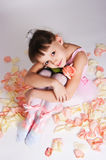 The tired small ballerina Royalty Free Stock Photos