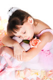 The tired small ballerina Royalty Free Stock Photos