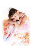 The tired small ballerina Stock Photography