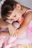 The tired small ballerina Royalty Free Stock Photo