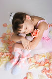 The tired small ballerina Royalty Free Stock Photography