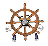 Tired steering wheel illustration Royalty Free Stock Photo