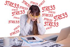 Tired and stress business people concept. stressed Asian business Stock Photo