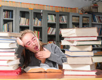 Tired student Royalty Free Stock Photo