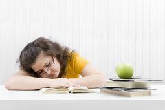 The tired student Royalty Free Stock Photo