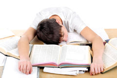 Tired student Stock Photography