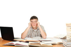 Tired Student Royalty Free Stock Image